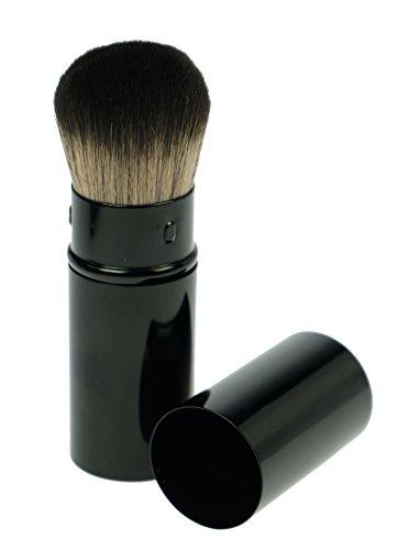 Puderpinsel vegan - einschiebbar mit Kappe, Professioneller Makeup Pinsel, Schminkpinsel aus...