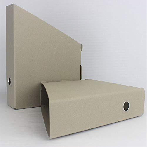 Öko Line Stehsammler 10er Pack Mappenmanufaktur aus 100% Altpapier. DIN A4 Fb. grau. Hergestellt in Deutschland. Organizer Aufbewahrungsbox Zeitschriftensammler Sammelbox