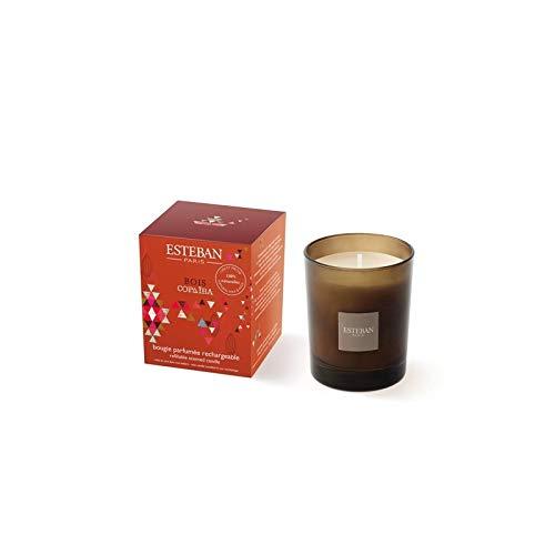 ESTEBAN geurkaars oplaadbare Bois copaiva Bougie Parfumée 170 g
