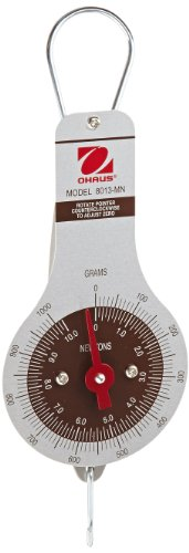 Ohaus 8013-MN Dial-Type Hanging Spring Scale, 1000g x 10g, and 10N x 0.2N