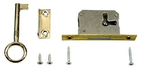 SN-TEC Einsteckschloss/Möbelschloss/Schrankschloss 15mm Dornmaß rechts/links/oben verwendbar incl. Zubehör