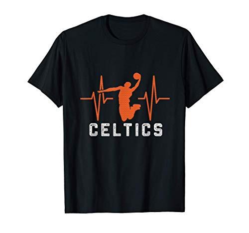 Vintage i heart celtics Basketball Gift For the Celtics lov T-Shirt