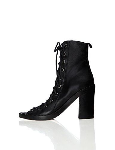 find. Botas Piel con Cordones para Mujer, Negro (Black), 40 EU