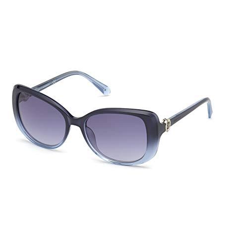 Swarovski Damen Sonnenbrille SK0219/S 90W 55-17-135 blau glänzend Gläser blau gradient