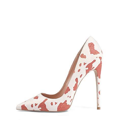 GENSHUO Zapatos de Tacón Mujer Sexy Zapato Stiletto 12 CM Elegante Novia...