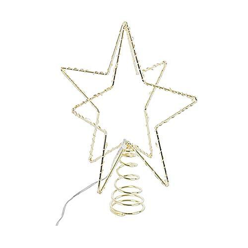 Sirius Home 51645 Weihnachtsbaumspitze Metall 30 LED 15 cm, batteriebetrieben Gold Indoor