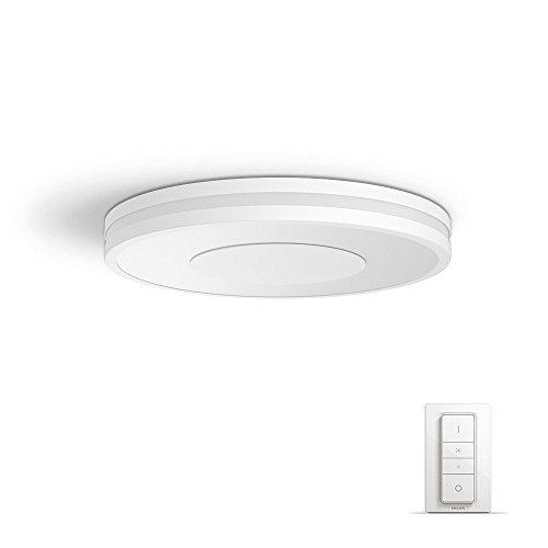 Philips Hue White ambiance Being - Plafón LED blanco con mando, Iluminación inteligente, compatible con Amazon Alexa, Apple HomeKit y Google Assistant