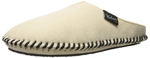 Image of the Woolrich Women's Fleece Mill Scuff Slipper, Peyote, Medium/10-11 M US