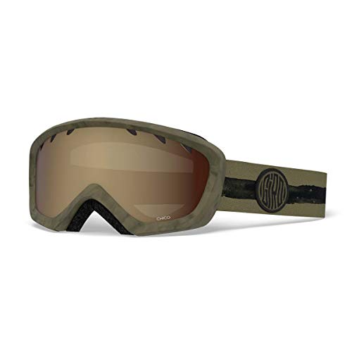 Giro Chico Youth Snow Goggles Olive Dye Line - Amber Rose