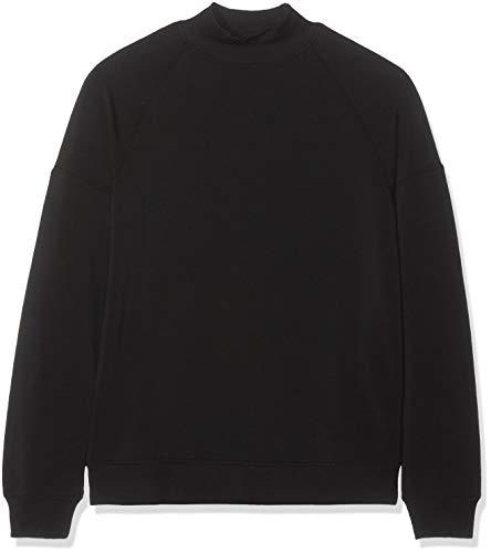 Marca Amazon - Find. Soft Jersey High Neck Sudadera Mujer, Negro (Black), 42, Label: L
