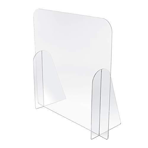 Kartenmachen.de Spuckschutz aus Acrylglas Virenschutz, Hustenschutz, Thekenaufsatz - Breite 100 cm, Höhe 75 cm ohne Durchreiche