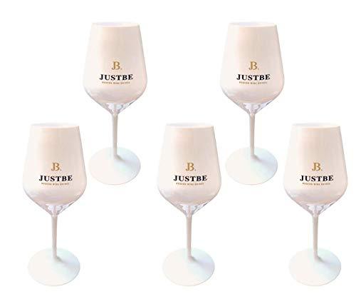JUST BE Sektgläser aus bruchsicherem Acrylglas | Sekt-Gläser Premium Weiß | 5 Stück