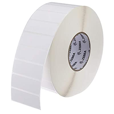 Zebra - 3 x 1 in Thermal Transfer Polypropylene labels, PolyPro 3000T Permanent Adhesive Shipping labels, Zebra Industrial Printer Compatible, 3 in Core - 4 rolls - 10031658SP