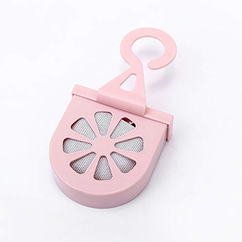 GBB Hängender Haushaltsgeruchseliminator Bambuskohle Deodorant Beutel Kühlschrank Deodorant Box Aktivkohle Carbon Deodorant Pink