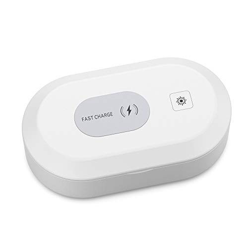 Cell Phone Cleaner Box and Wireless Charger, Portable Cleaner Multi-Function, Underwear Cleaning Toothbrush Jewelry Watches Keys, Clean Your Belongings Now