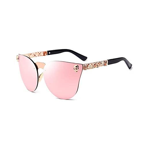 CHYSJ Gafas de Sol exquisitas de Patrones de Metal, Gafas de Sol Anti-Ultravioleta, Gafas de Sol Decorativas de conducción para Hombres y Mujeres