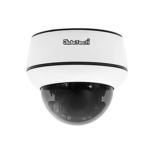 Cámara de vigilancia JideTech PTZ PoE para Exteriores, cámara de Seguimiento automático IP Domo de 5MP con Zoom óptico de 4X, Audio de 2 vías, IP66 a Prueba de Agua,Compatible con Tarjeta SD de 128G