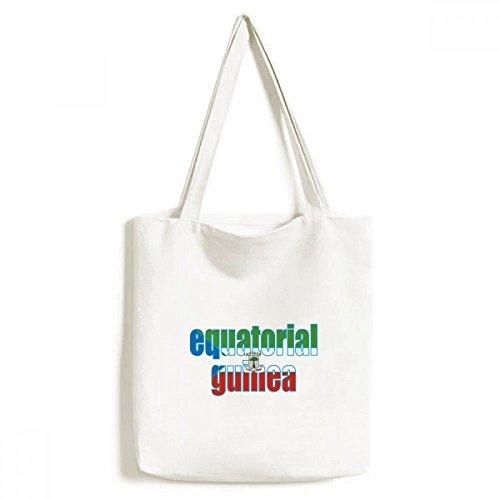 DIYthinker Äquatorial-Guinea Flagge Namen Environmentally-Tasche Einkaufstasche Kunst Waschbar 33cm x 40 cm (13 Zoll x 16 Zoll) Mehrfarbig