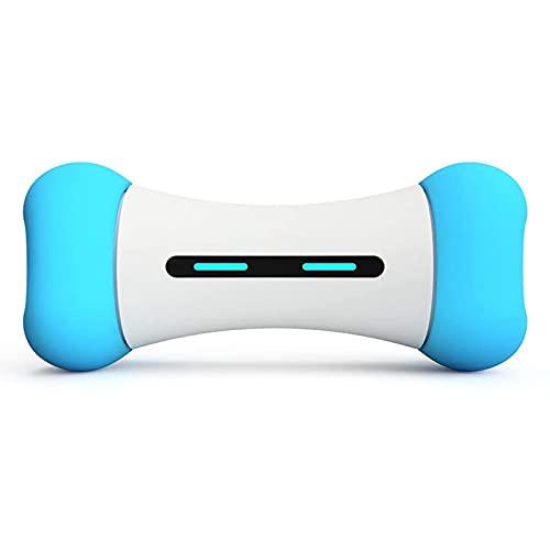 Hueso eléctrico de juguete de hueso inteligente para perro, cachorro y gato, control de aplicaciones, seguridad y duradero, neumáticos extraíbles Hueso automático de perros con función de juego automá