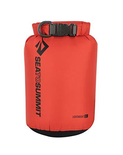 Sea to Summit Lightweight 70D Dry Sack-2 litros Saco Montañismo, Alpinismo y Trekking, Adultos Unisex, Rojo (Red), Talla Única
