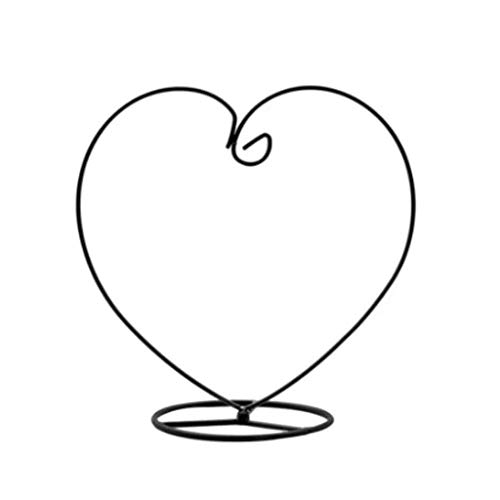 ZLBYB Heart Shaped Ornament Display Stand Iron Hanging Stand Rack Holder for Hanging Glass Globe air Plant Terrarium Witch Ball