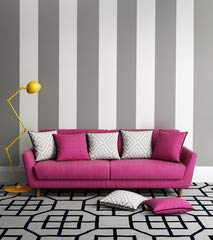 Alu-Dibond-Bild 100 x 110 cm: 'Fresh style, romantic interior living room with pink sofa', Bild auf Alu-Dibond