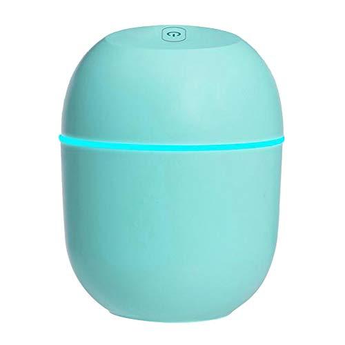 freneci Mini Ultraschall Luftbefeuchter 220ml Diffusor LED Nachtlicht für Schlafzimmerreisen - Grün