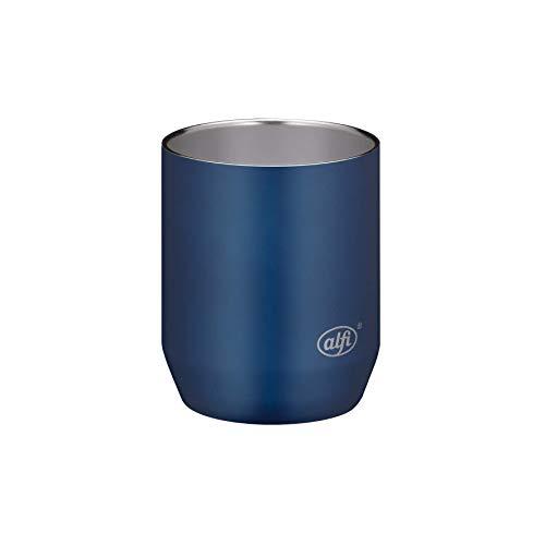 alfi Edelstahltasse City Cup 280ml, Tasse Edelstahl blau, Kaffeebecher langlebig, ohne Innenbeschichtung und frei von BPA, ideal für Büro oder Camping - 5567.259.028