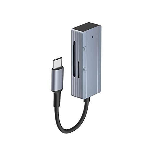 sunshot USB C Lettore di schede SD TF, Visualizzatore per fotocamera Trail di tipo C, Leggi o riproduci foto e video dalla scheda di memoria su laptop, tablet o telefono con porta TypeC