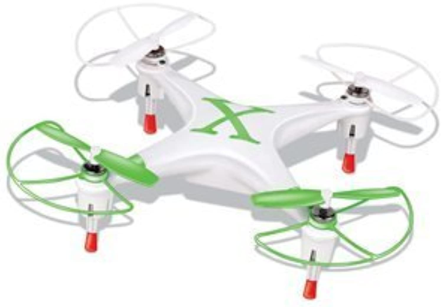Microgear 2.4GHz Radio Controlled RC QX-827 4 Channel Mini Quadcopter - Green by Microgear