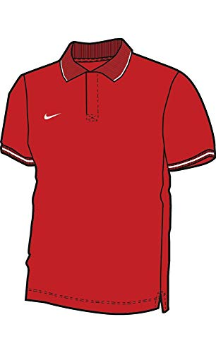 Nike Kinder Poloshirt Team Club 19 Polo, University red/White, XS, AJ1546-657