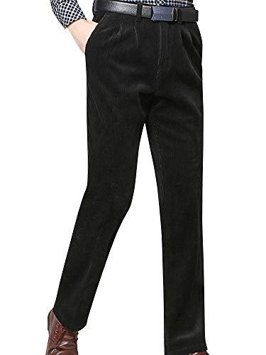 [ネルロッソ] コーデュロイ パンツ メンズ 裏起毛 暖パン 暖かい 防寒 裏ボア ズボン ロングパンツ チノパン ボトムス 大きいサイズ 正規品 36サイズ ブラック cmy24403-36-bl