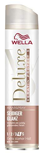 WELLA Deluxe Haarspray Keratin Seidiger Glanz extra stark, 250 ml
