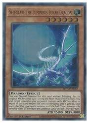 英語版(北米版) 茶 Seleglare the Luminous Lunar Dragon(U)(1st)(眩月龍セレグレア)
