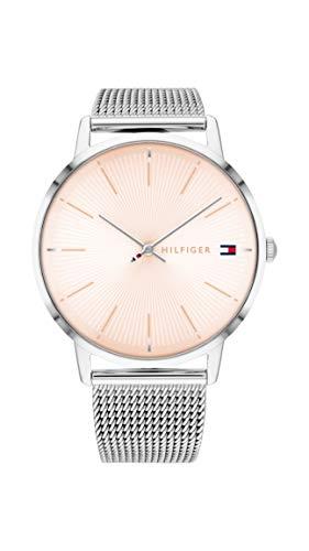 Tommy Hilfiger Damen Analog Quarz Uhr mit Edelstahl Armband 1782244