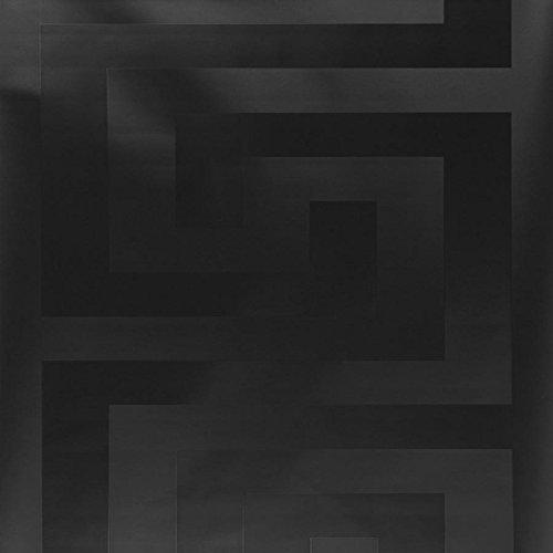 1edf0840139 Versace Greek Key Designer Wallpaper in Black (Full Roll)