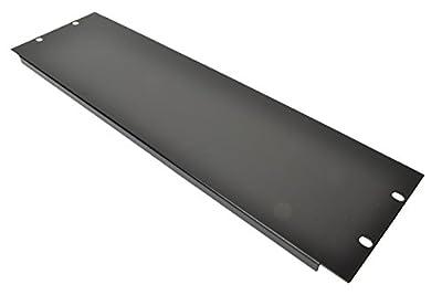 "3 U 19"" Blank Rack Panel With Black Finish"