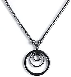 Geometric Hematite Necklace for Men, Women, Teens - Beautifully Crafted, Great as a Gift - Balance Your Root Chakra