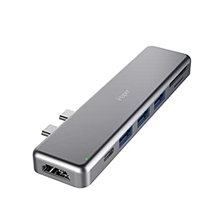 【1/22まで】iHaper 100W PD電力供給対応7-in-2 USB C ハブ 799円!2000円以上 or プライム会員は送料無料!【Type-C Thunderbolt 3、4K HDMI、3つUSB 3.0、SD/Micro SDに拡張】