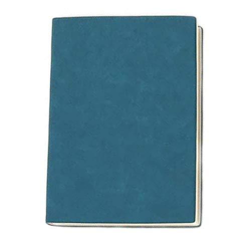 Business-Notizbuch, A5, Kunstledereinband, 80 g, Daolin-Papier, Innenseite, Executive-Notizbuch (blau-grün)