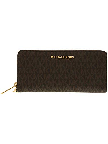 Michael Kors Women's Jet Set Travel Wallet No Size (Brown/Acorn)