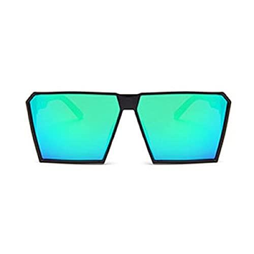 ShZyywrl Gafas De Sol De Moda Unisex Tendencia Gafas De Sol Cuadradas De Gran Tamaño Mujeres Vintage Hombres Espejo Color Película Gafas De SolUv400 6