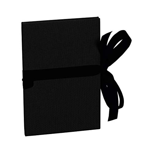 Semikolon (353210) Leporello Classico black (schwarz) - Für 14 Bildern im Format 10 x 15 cm - Ziehharmonika-Fotobuch - Format: 12,2 x 17,7 cm