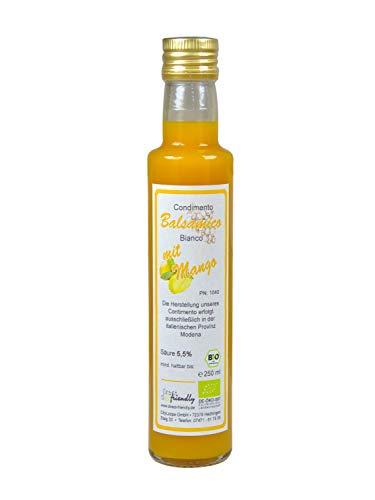 direct&friendly Bio Mango Essig, Condimento Balsamico mit fruchtiger Mango (250 ml)