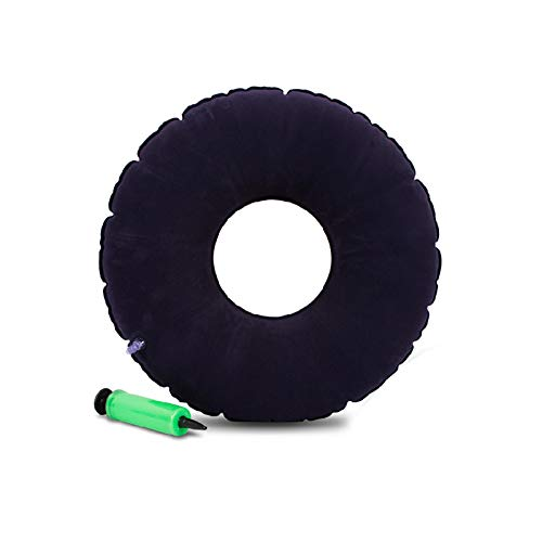 YUXINCAI anti-decubitus kussen rolstoel opblaasbaar anti-decubitus orthopedisch kussen huis ventilatie post operationele rolstoel kussen, Blauw, 40 cm x 13 cm x 9,5 cm