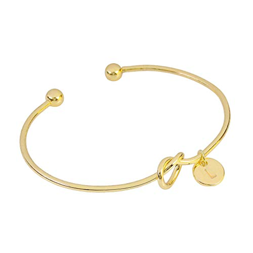 Bracelets for WomenEuropean and American Style Heart Shape Metal Simple Knotted Bracelet 26 LettersJewelry & Watches Christmas for Faclot