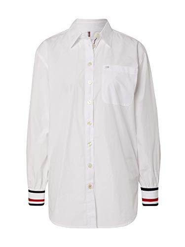 Tommy Hilfiger - Chemise pour femme blanche avec poignets contrastés. - Blanc - 32