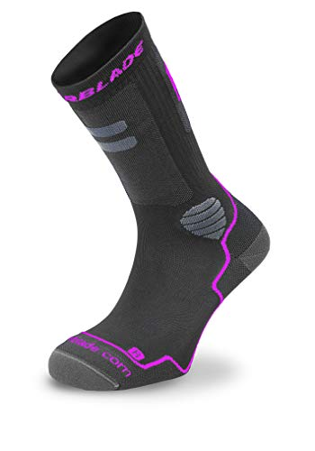 Rollerblade Damen HIGH Performance W Socks, Dark Grey/pink, M