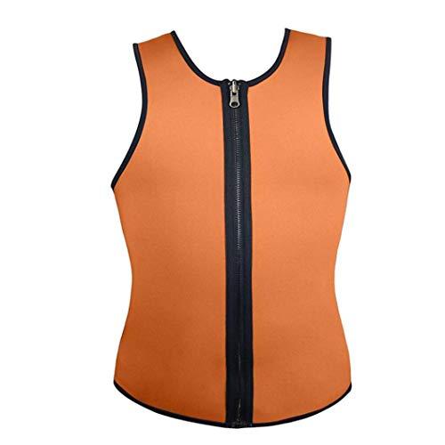 Herren Tank Top Shapewear Weste Schweiß Workout Taille Trainer mit Reißverschluss Body Shaper