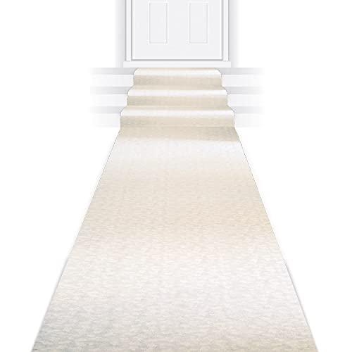 Beistle Elite Collection Aisle Runner, 3-Feet by 100-Feet,White
